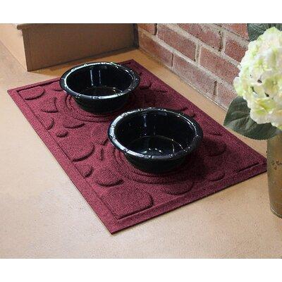 Amald Dog Bowl Dot Doormat Color: Bordeaux