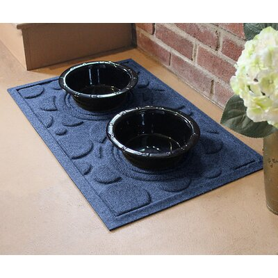 Amald Dog Bowl Dot Doormat Color: Navy
