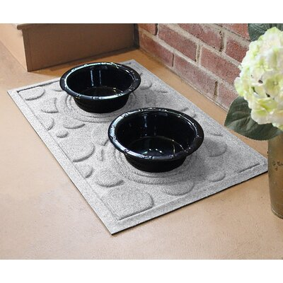 Amald Dog Bowl Dot Doormat Color: White