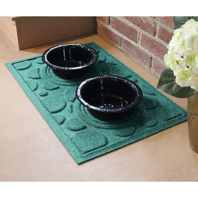 Amald Dog Bowl Dot Doormat Color: Aquamarine