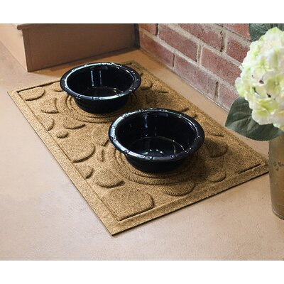 Amald Dog Bowl Dot Doormat Color: Gold