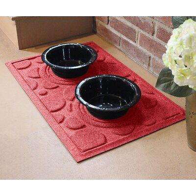 Amald Dog Bowl Dot Doormat Color: Solid Red