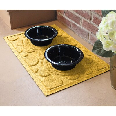 Amald Dog Bowl Dot Doormat Color: Yellow