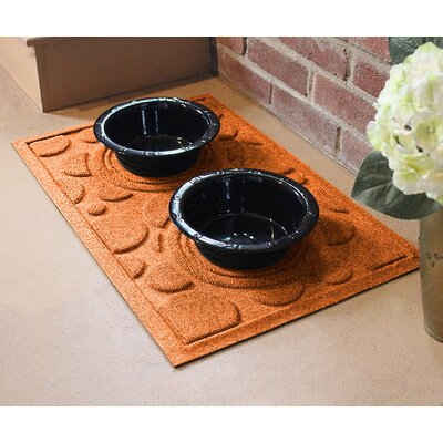 Amald Dog Bowl Dot Doormat Color: Orange