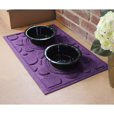 Amald Dog Bowl Dot Doormat Color: Purple