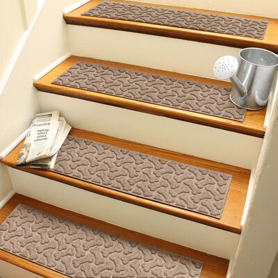 Amald Dogbone Repeat Stair Tread Color: Medium Brown