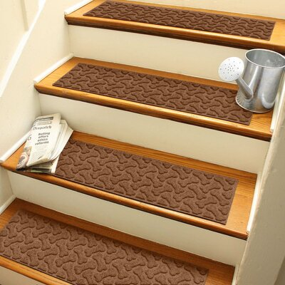 Amald Dogbone Repeat Stair Tread Color: Dark Brown
