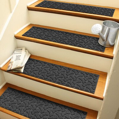 Amald Dogbone Repeat Stair Tread Color: Charcoal