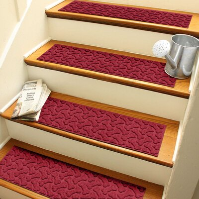 Amald Dogbone Repeat Stair Tread Color: Red/Black