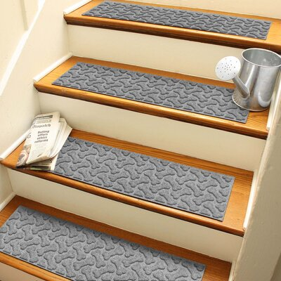 Amald Dogbone Repeat Stair Tread Color: Medium Gray