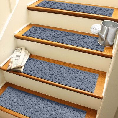 Amald Dogbone Repeat Stair Tread Color: Bluestone