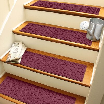 Amald Dogbone Repeat Stair Tread Color: Bordeaux