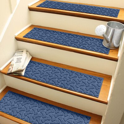Amald Dogbone Repeat Stair Tread Color: Navy