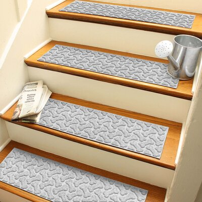 Amald Dogbone Repeat Stair Tread Color: White