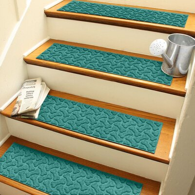 Amald Dogbone Repeat Stair Tread Color: Aquamarine