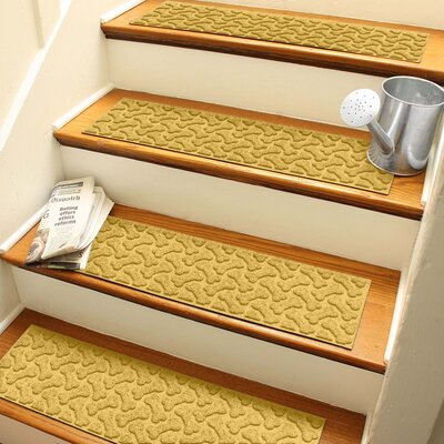 Amald Dogbone Repeat Stair Tread Color: Yellow