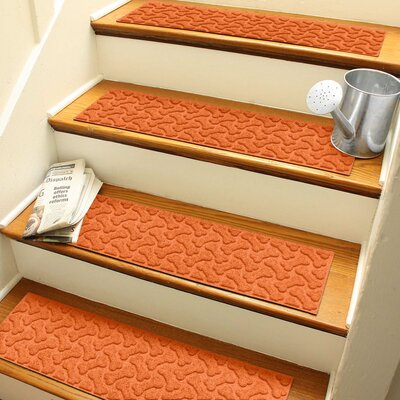Amald Dogbone Repeat Stair Tread Color: Orange