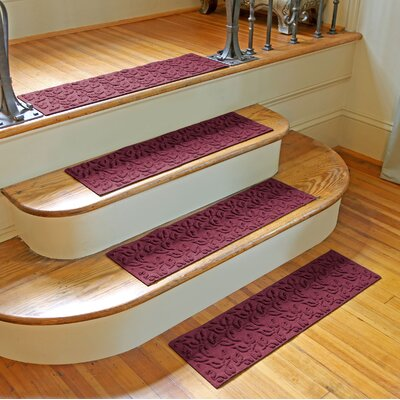 Amald Dogwood Leaf Stair Tread Color: Bordeaux