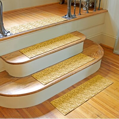 Amald Dogwood Leaf Stair Tread Color: Yellow