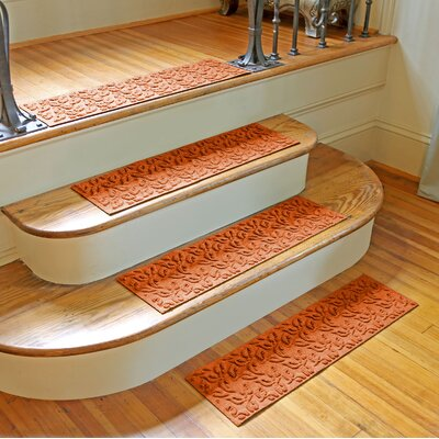 Amald Dogwood Leaf Stair Tread Color: Orange