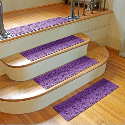 Amald Dogwood Leaf Stair Tread Color: Purple