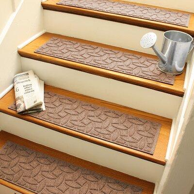 Amald Elipse Stair Tread Color: Medium Brown