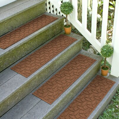 Amald Elipse Stair Tread Color: Dark Brown