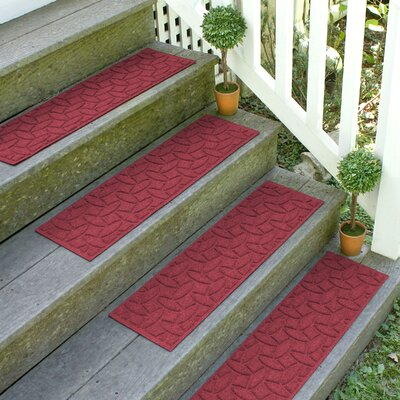 Amald Elipse Stair Tread Color: Red/Black