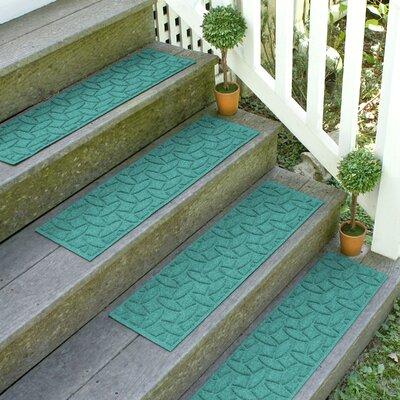 Amald Elipse Stair Tread Color: Aquamarine