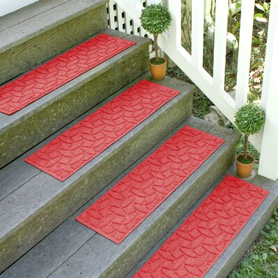 Amald Elipse Stair Tread Color: Solid Red