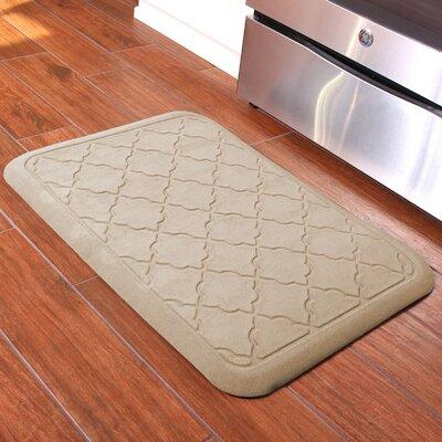 Romain Surfaces Heavenly Onyx Anti-Fatique Kitchen Mat Color: Latte