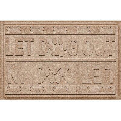 Amald Let Dog In/Out Doormat Color: Camel