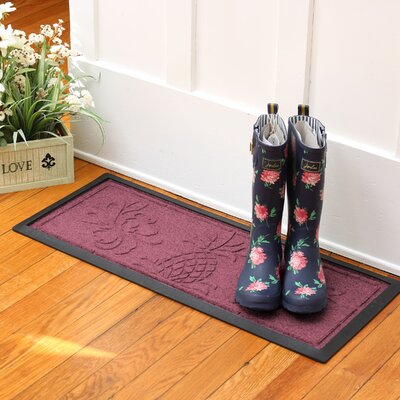 Keppler Pineapple Boot Tray Color: Bordeaux