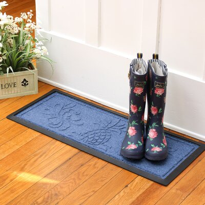 Keppler Pineapple Boot Tray Color: Navy