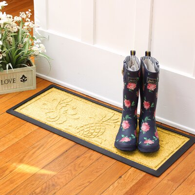 Keppler Pineapple Boot Tray Color: Yellow