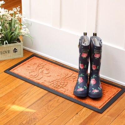 Keppler Pineapple Boot Tray Color: Orange