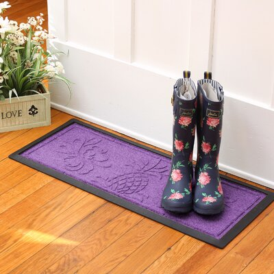 Keppler Pineapple Boot Tray Color: Purple