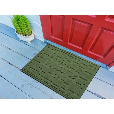 Amald Stone Path Welcome Doormat Color: Light Green