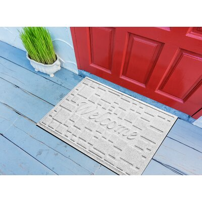 Amald Stone Path Welcome Doormat Color: White