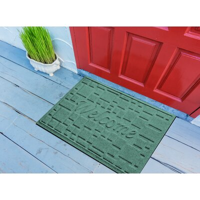 Amald Stone Path Welcome Doormat Color: Aquamarine