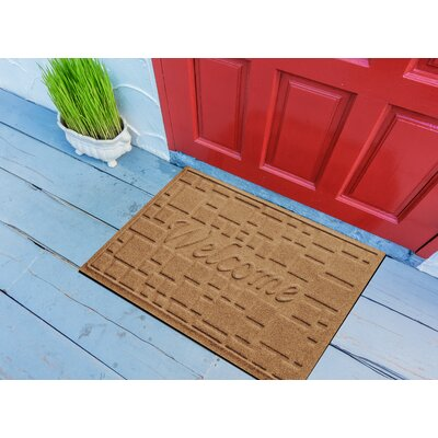 Amald Stone Path Welcome Doormat Color: Gold