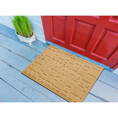 Amald Stone Path Welcome Doormat Color: Yellow