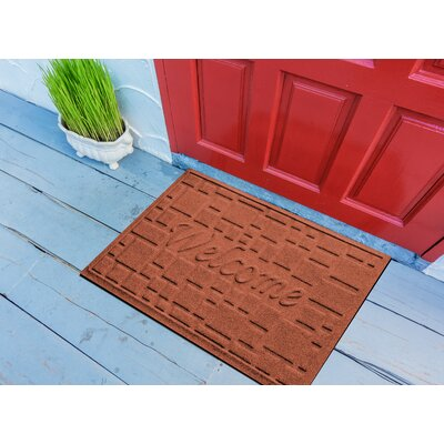 Amald Stone Path Welcome Doormat Color: Orange