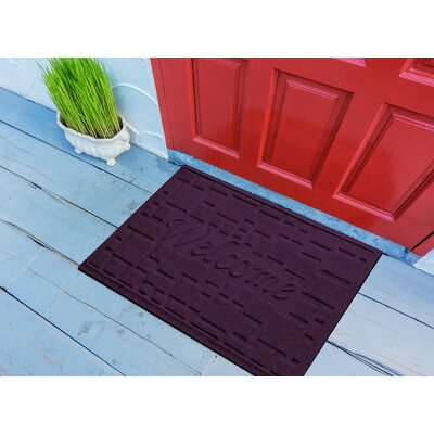 Amald Stone Path Welcome Doormat Color: Purple