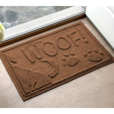 Amald Wag The Dog Doormat Color: Medium Brown, Mat Size: 2 x 3