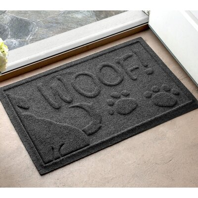 Amald Wag The Dog Doormat Color: Charcoal, Mat Size: 2 x 3