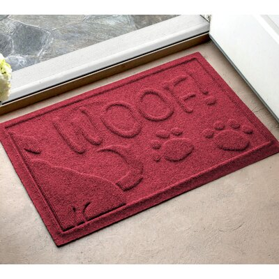 Amald Wag The Dog Doormat Color: Red/Black, Mat Size: 2 x 3