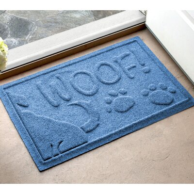 Amald Wag The Dog Doormat Color: Medium Blue, Mat Size: 2 x 3