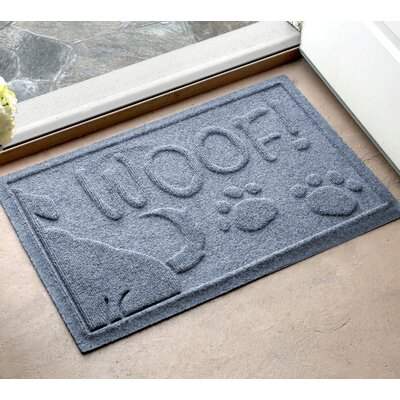 Amald Wag The Dog Doormat Color: Bluestone, Mat Size: 16 x 24