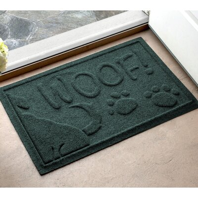 Amald Wag The Dog Doormat Color: Evergreen, Mat Size: 2 x 3